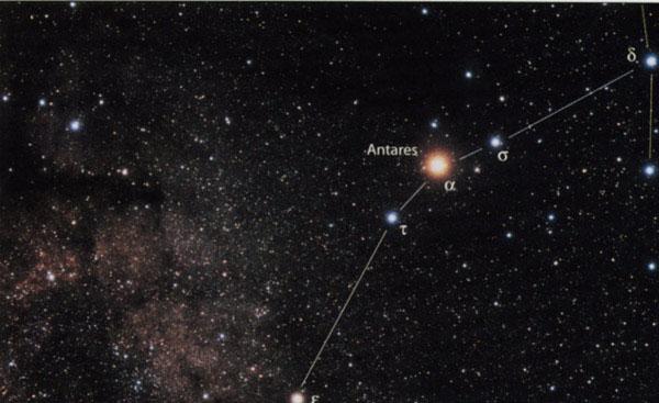 Где находится антарес